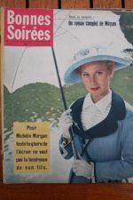 1958 Vintage Magazine Michele Morgan