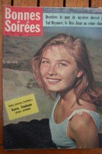 1958 Vintage Magazine Odette Laure Yul Brynner