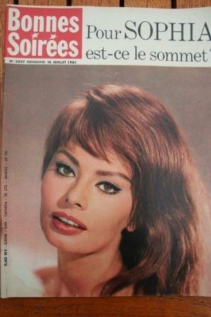 1961 Vintage Magazine Sophia Loren