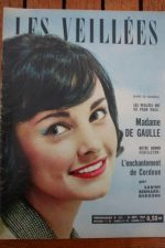 1960 Vintage Magazine Yvonne De Gaulle