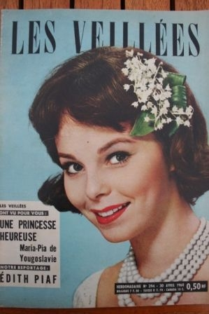1960 Vintage Magazine Edith Piaf