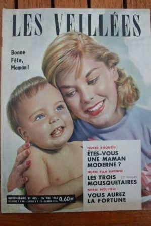 1962 Vintage Magazine Gerard Barray Mylene Demongeot