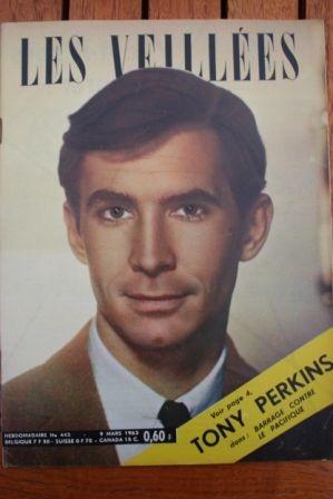 1963 Vintage Magazine Anthony Perkins Silvana Mangano