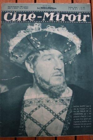1937 Sacha Guitry Jean-Louis Barrault Simone Berriau