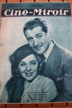 1938 Tyrone Power Alice Faye Jean-Pierre Aumont