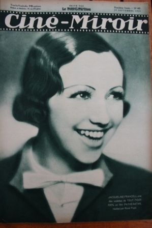 1933 Jacqueline Francell Simone Simon Jan Kiepura