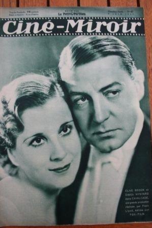 1933 Clive Brook Diana Wynyard Edmund Lowe