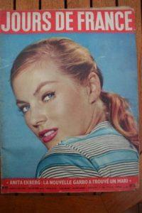 1956 Vintage Magazine Anita Ekberg Kim Novak