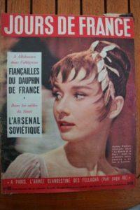 1956 Vintage Magazine Audrey Hepburn