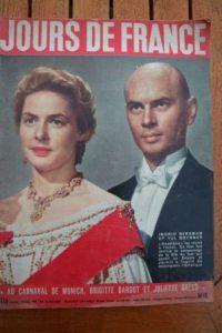 1957 Ingrid Bergman Yul Brynner Romy Schneider