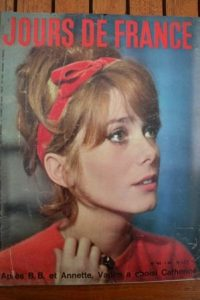 1961 Vintage Magazine Catherine Deneuve Johnny Hallyday