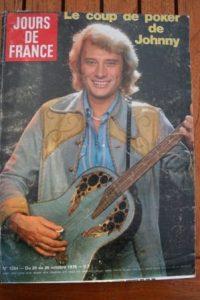 1979 Vintage Magazine Johnny Hallyday Serge Lama