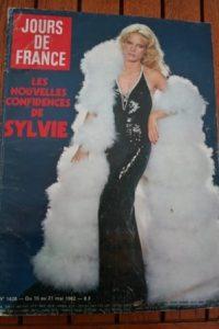 1982 Vintage Magazine Sylvie Vartan Charles Aznavour