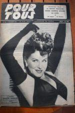 1946 Paulette Goddard Jean Marais Maurice Chevalier