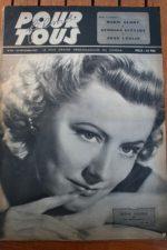 1947 Irene Dunne Joan Leslie Maria Montez Martine Carol