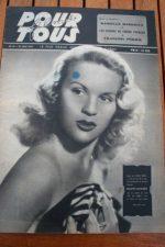 1947 Danielle Darrieux Jane Harker Joan Fontaine