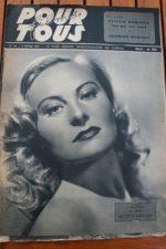 1947 Michele Morgan Margaret Lockwood Grace Moore