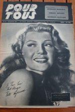 1947 Rita Hayworth Joan Crawford Veronica Lake