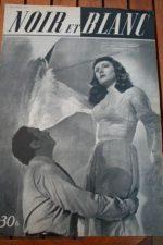 1949 Vintage Magazine Viviane Romance