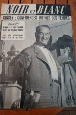 1953 Vintage Magazine Maurice Chevalier