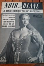 1953 Vintage Magazine Martine Carol Hiroshima