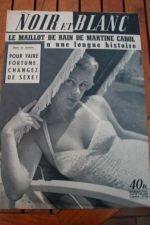 1954 Vintage Magazine Martine Carol Aristote Onassis