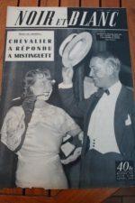1954 Vintage Magazine Mistinguett Maurice Chevalier