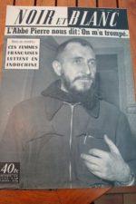1954 Vintage Magazine Abbe Pierre Auguste Lumiere