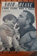 1954 Vintage Magazine Abbe Pierre