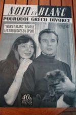 1955 Vintage Magazine Juliette Greco Philippe Lemaire