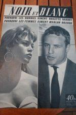 1955 Vintage Magazine Brigitte Bardot Marlon Brando