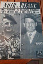 1956 Vintage Magazine Colonel Bigeard Ducourneau
