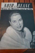 1956 Vintage Magazine Grace Kelly Rouffignac