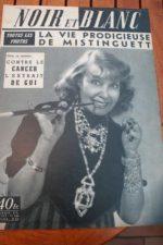 1956 Vintage Magazine Mistinguett