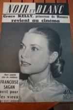 1957 Vintage Magazine Grace Kelly Francoise Sagan