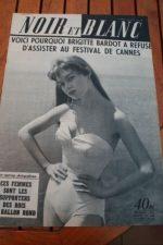 1957 Vintage Magazine Brigitte Bardot