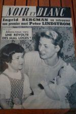 1957 Vintage Magazine Ingrid Bergman