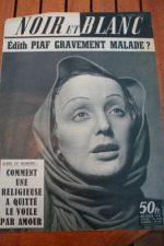 1958 Vintage Magazine Edith Piaf
