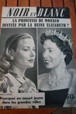 1959 Vintage Magazine Grace Kelly Queen Elizabeth
