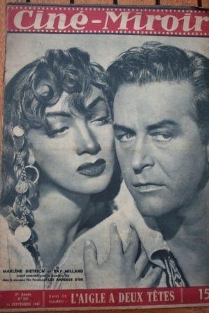 1948 Marlene Dietrich Ray Milland Joan Bennett