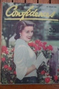 1951 Vintage Magazine Jean Simmons