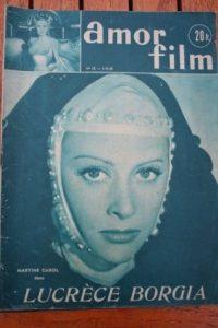 1953 Martine Carol Pedro Armendariz Lucrece Borgia
