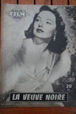 1955 Gene Tierney Ginger Rogers Van Heflin Black Widow