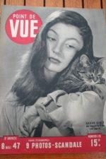 1947 Vintage Magazine Anouk Aimee Dubout