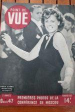 1947 Vintage Magazine Greta Garbo Claude Dauphin