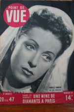 1947 Vintage Magazine Danielle Darrieux Marianne Oswald