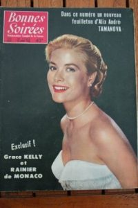 1956 Vintage Magazine Grace Kelly