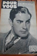 1939 Tyrone Power Deanna Durbin Luise Rainer