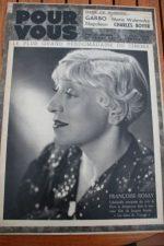 1938 Francoise Rosay Carole Lombard Greta Garbo