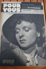 1938 Odette Joyeux Gary Cooper Raimu Pierre Blanchar
